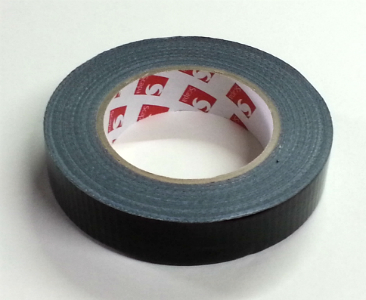 "Scapa 1"" Black Gaffer Tape, Shiney/Economy (SCAPA 3160)"