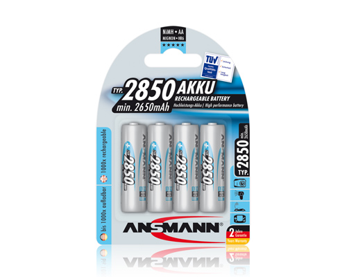 Ansmann AA NiMH 2850mAh Rechargeable (Pack of 4)