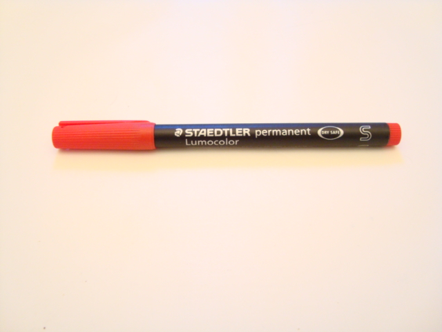 Staedtler Lumocolor Permanent Pen (Red)