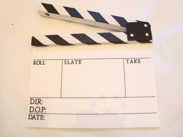Professional Perspex Clapperboard With Clapper Stick (Large)