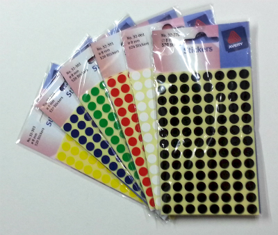 Sticky Dots - specify Colour in instructions