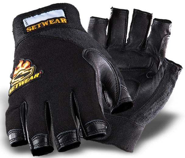 Setwear Leather Fingerless Gloves (Large) [SWF-05-010]