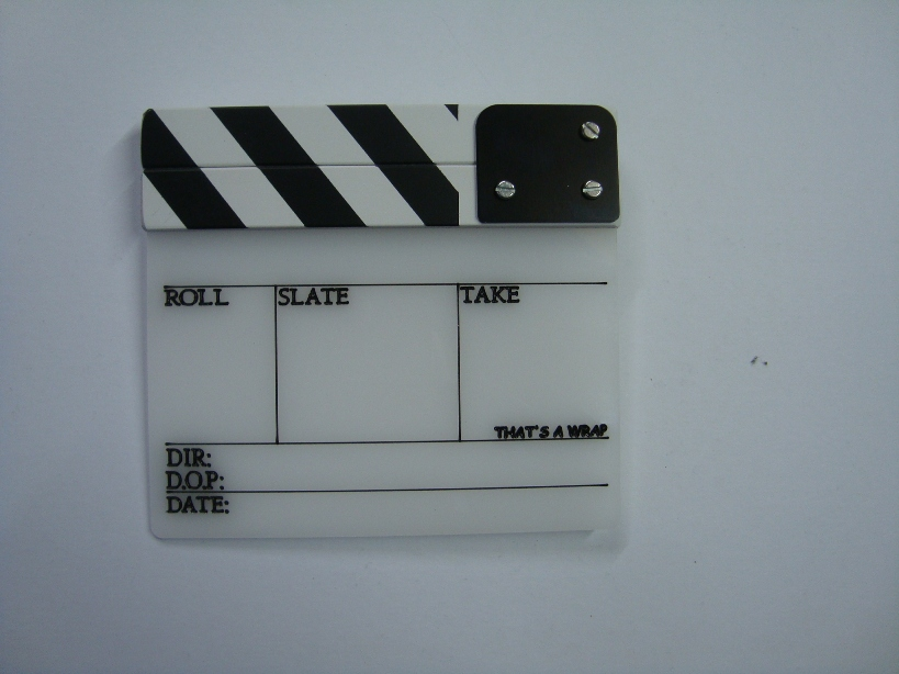 Professional Perspex Clapperboard With Clapper Stick (Small)